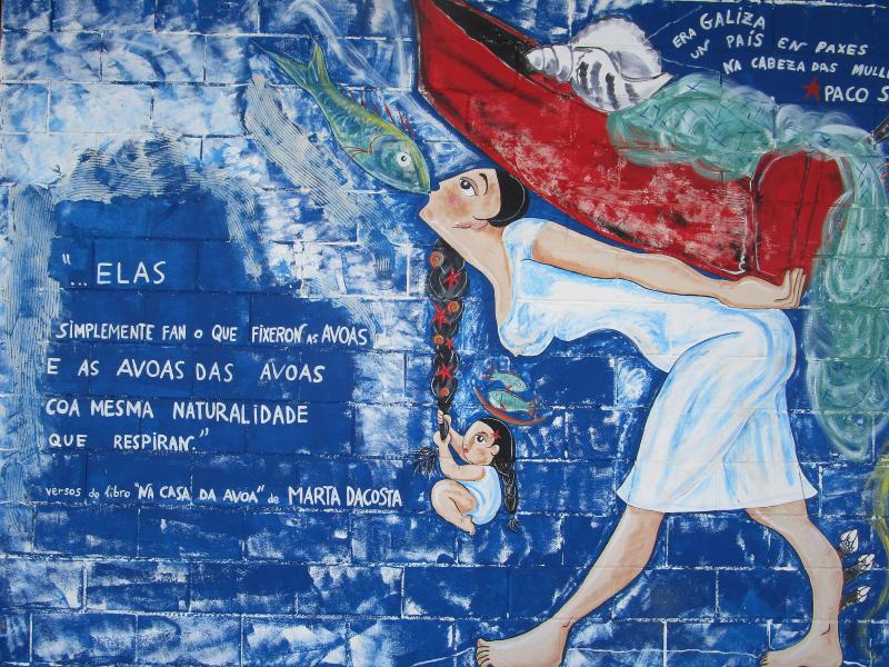 """""""La Vida Marinera"""", Lonja de Muxía, Rías Altas, Galicia"""