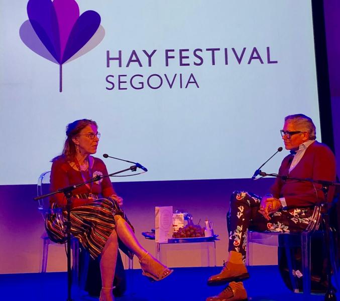 Un domingo de septiembre, conversando con Boris Izaguirre en la Alhondiga de Segovia.